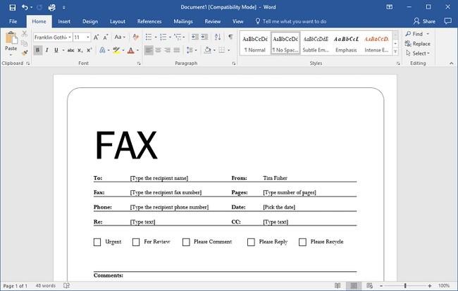 Microsoft Office ucretsiz fax gonderme
