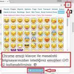 Chrome icin emoji klavye