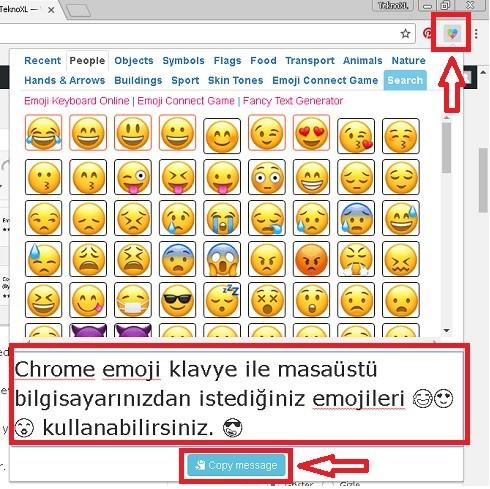 Chrome Emoji Klavye