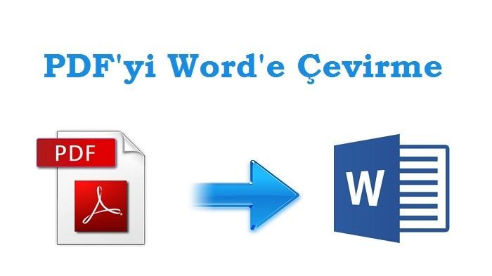 PDF Dosyasını Word Belgesine Çevirme