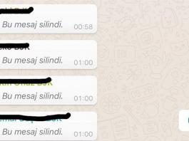 Whatsapp gonderilip silinen mesajlari okuma