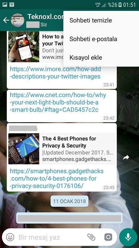 Whatsapp sohbet e-posta ile gonderme-3