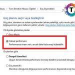 Windows 10 Guc Secenekleri