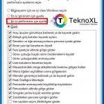 Windows 10 Performans Secenekleri