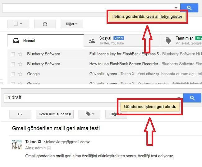 gmail geri alma ozelligi