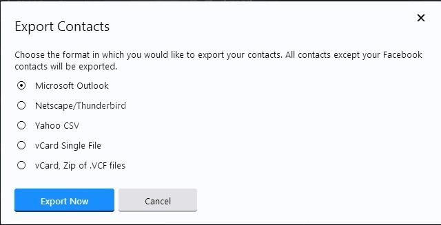 Yahoo Mail Kişi Listesi Dışa Aktarma Dosya Türleri