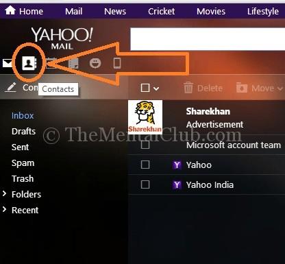 Yahoo Mail Kişileri İçe Aktar