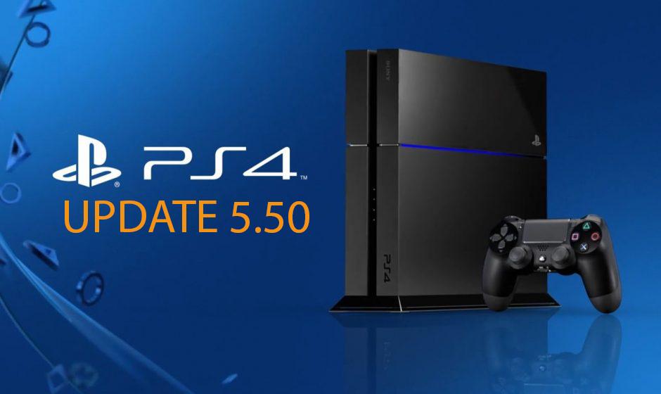 PlayStation 4 Sürüm 5.50