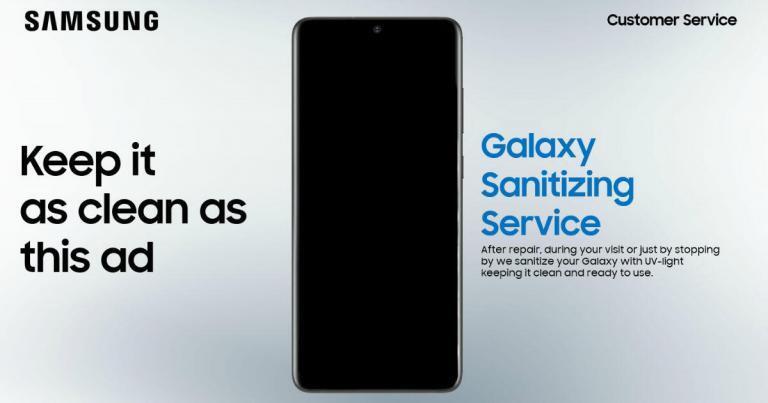 Samsung, Koronavirüs Nedeniyle 19 Ülkede Ücretsiz Akıllı Telefon Sterilizasyon Hizmeti Başlattı!