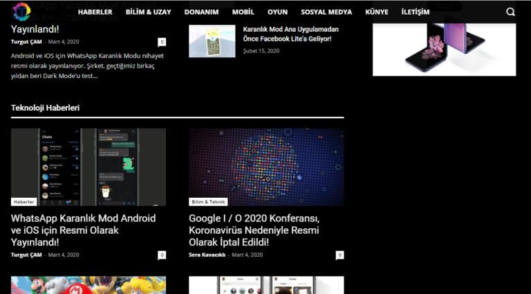 Google Chrome Tarayıcıda Tüm web Sitelerini Karanlık Modda Gösterme Nasıl Yapılır?