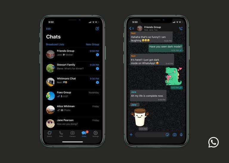 WhatsApp Karanlık Mod Android ve iOS için Resmi Olarak Yayınlandı!