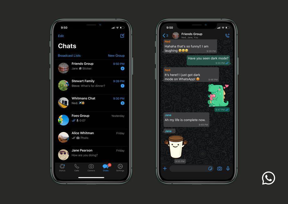 WhatsApp Karanlık Mod Android ve iOS için Resmi Olarak Yayınlandı!    Haberler, Sosyal Medya - TeknoXL